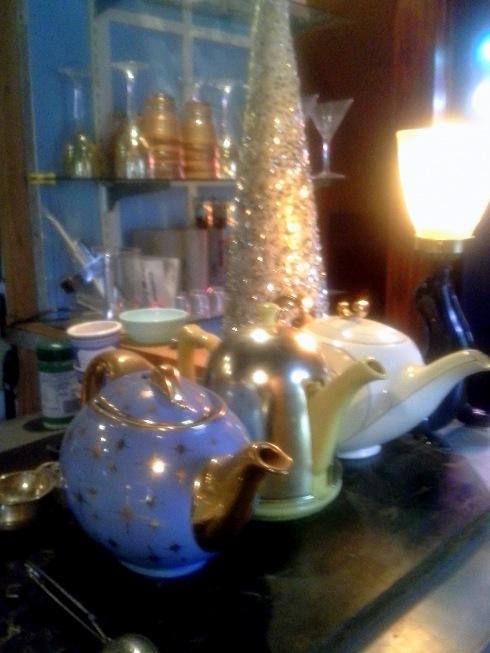 My Christmas tea pots