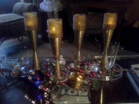 60's brass candle sticks, found 2 sets..lucky me