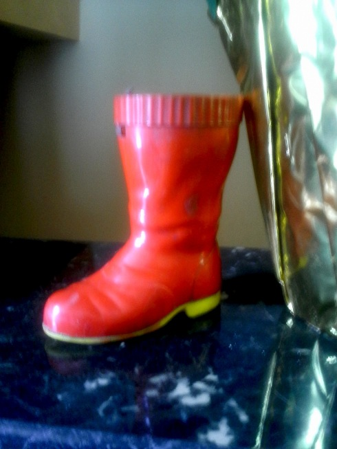 A plastic Santa Boot..like it a lot..