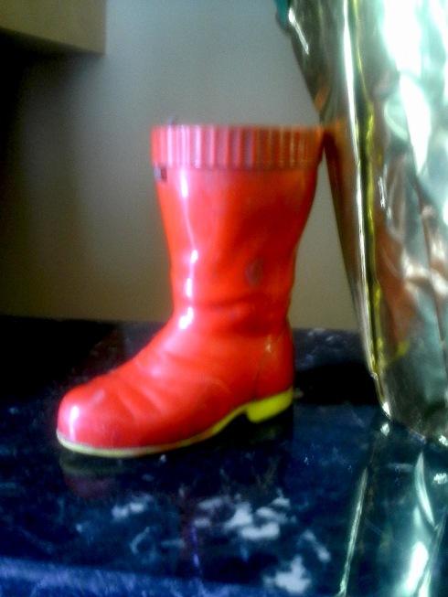 A plastic Santa Boot..like it a lot..
