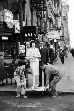 JFK and Jackie on 7th ave.